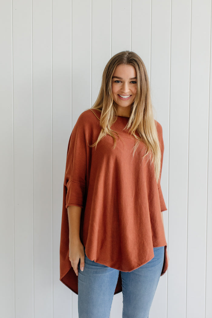 Georgie Essential Knit - Rust