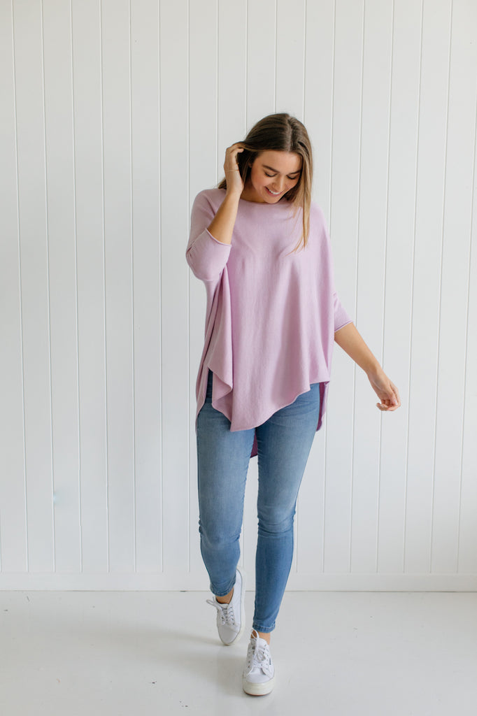 Georgie Essential Knit - Lilac - Betty Lane