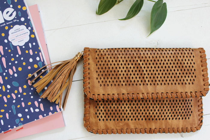 Pandora Clutch - Tan| Handbags | Betty Lane Womens Clothing Victoria