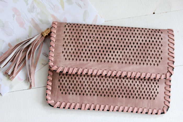 Pandora Clutch - Pink| Handbags | Betty Lane Womens Clothing Victoria
