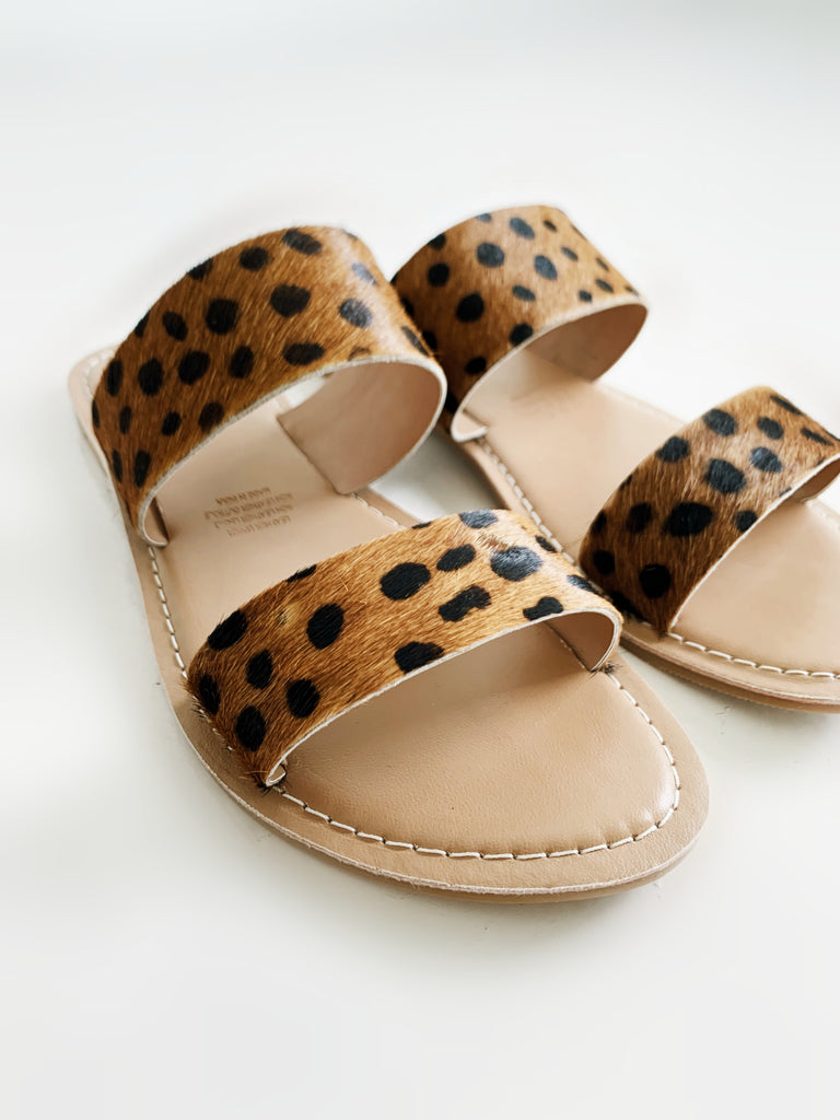 Dakota Leather Slides - Leopard