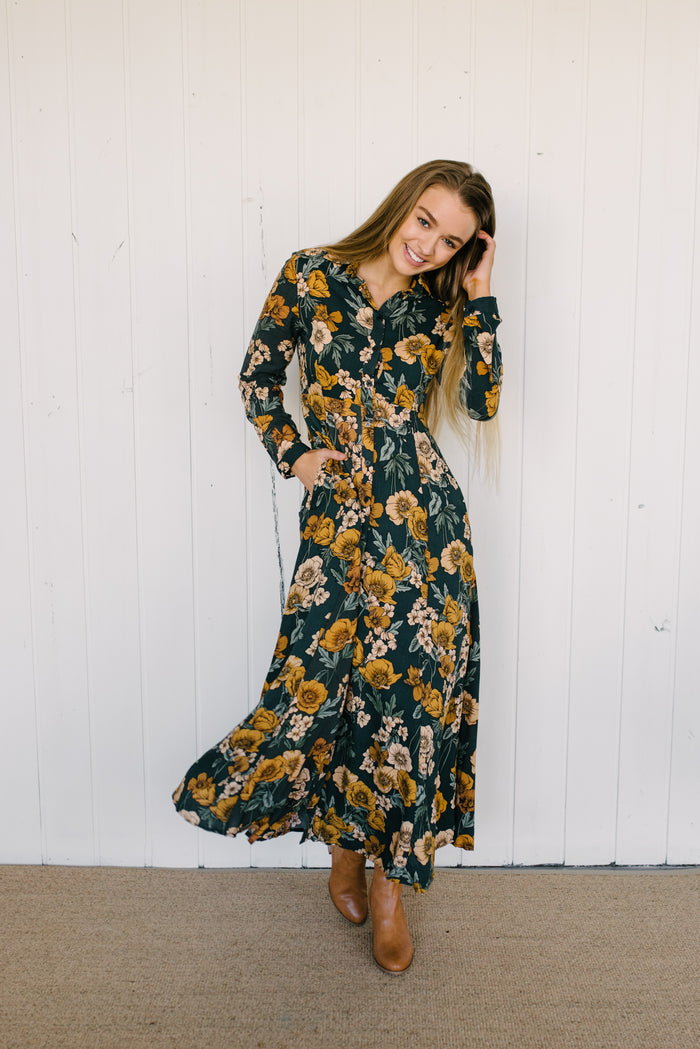 Botanical Maxi Dress|  | Betty Lane Womens Clothing Victoria