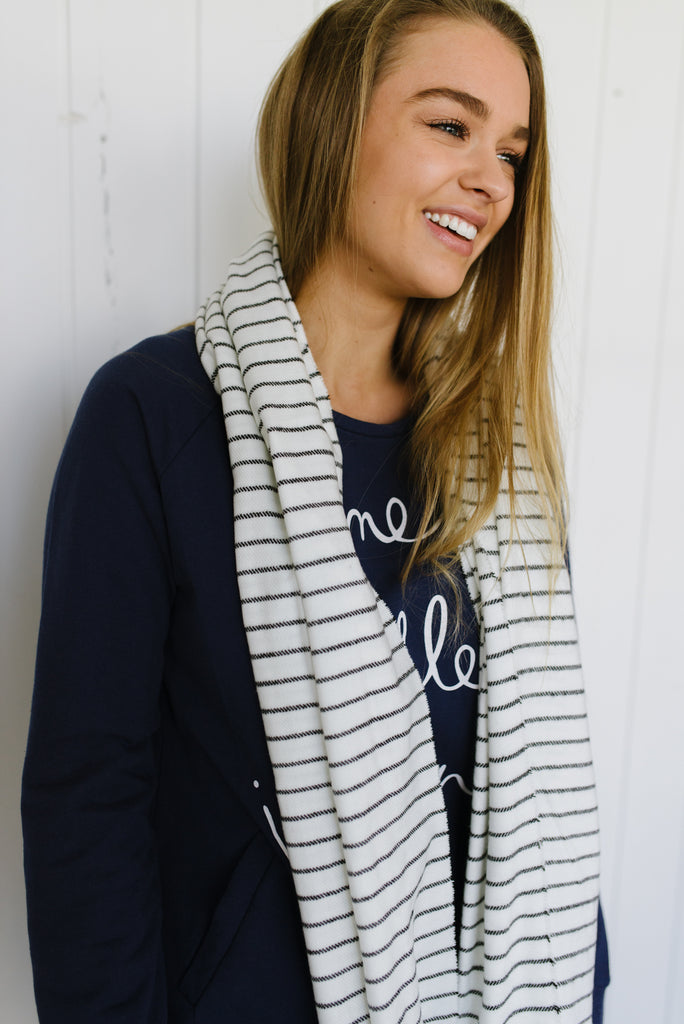 Super Soft Stripe Scarf|  | Betty Lane Womens Clothing Victoria