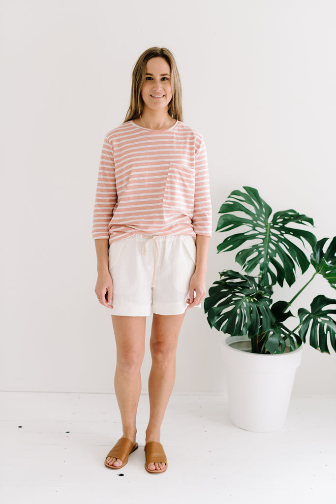 Ramie Shorts | Ivory| summer | Betty Lane Womens Clothing Victoria