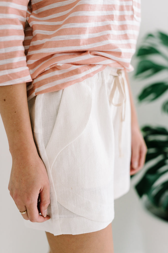 Little lies ramie shorts