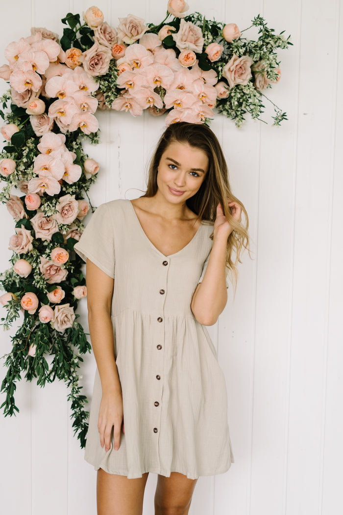 Betty Lane Capri Dress. Natural Cotton Dress