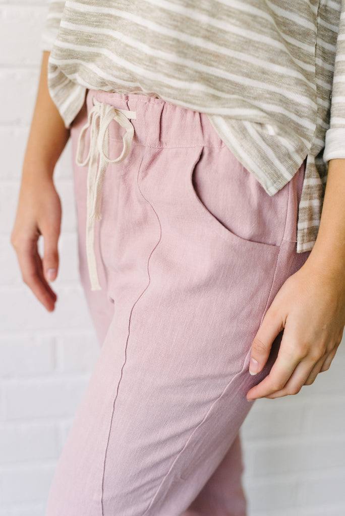 Ramie Pants - Pink| Pants | Betty Lane Womens Clothing Victoria
