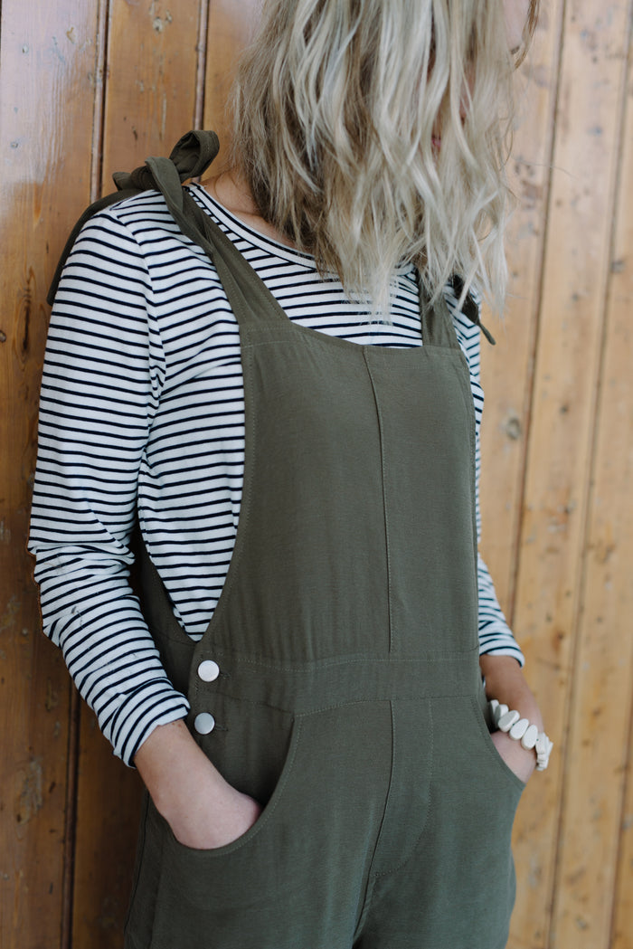 Womans khaki overalls