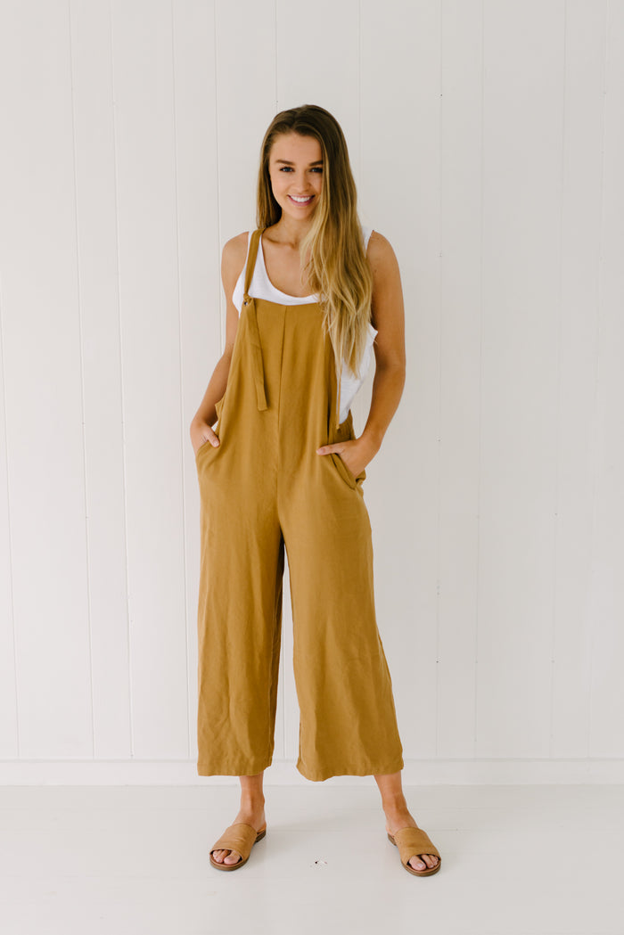 Billy Overalls - Mustard|  | Betty Lane Womens Clothing Victoria