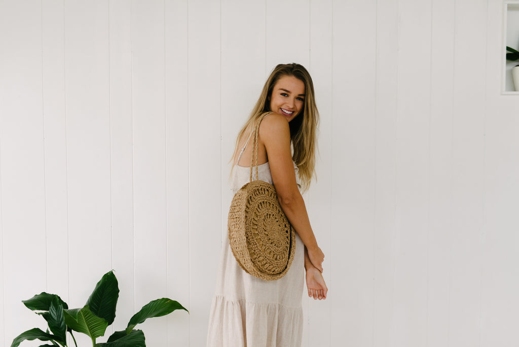 Palm Woven Bag|  | Betty Lane Womens Clothing Victoria