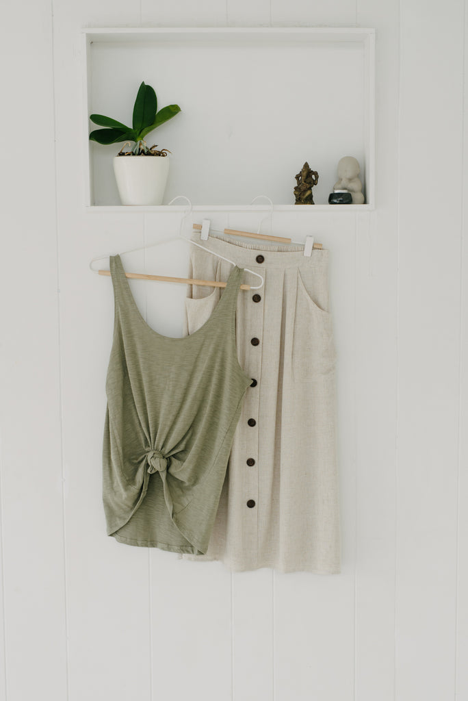 Everyday Tank - Khaki|  | Betty Lane Womens Clothing Victoria