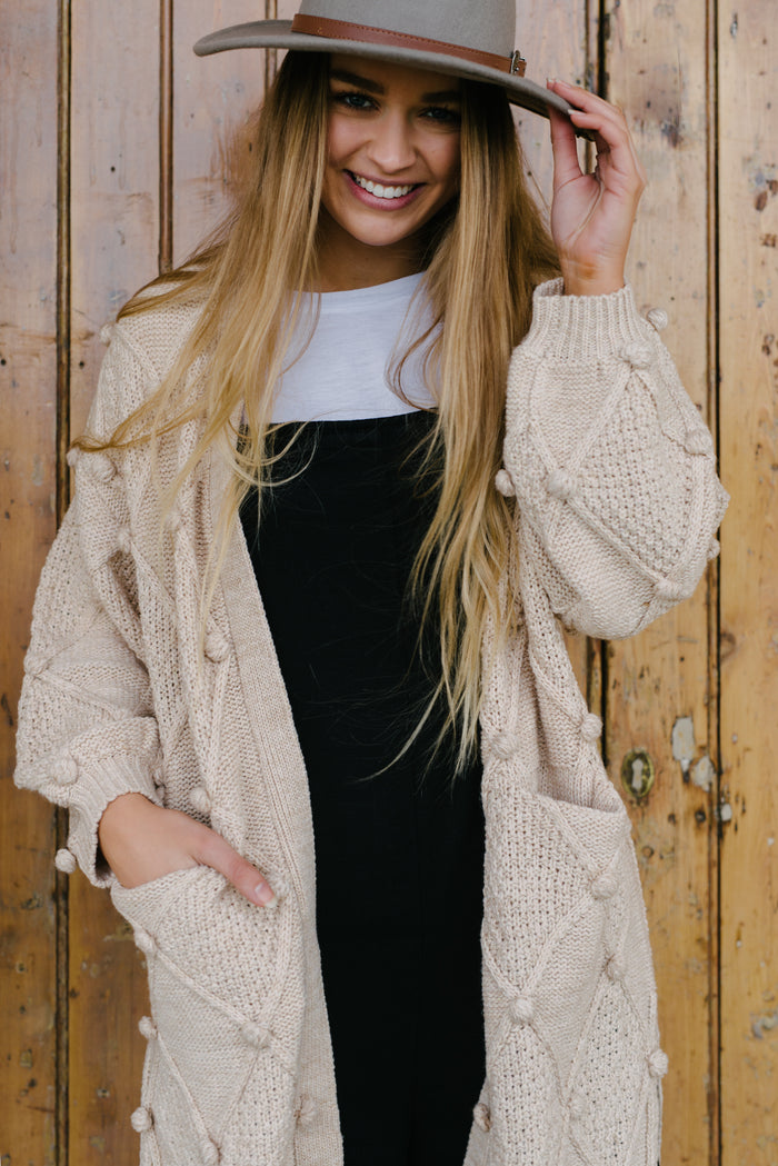 little lies pom pom cardigan