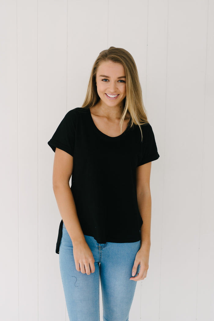 Everyday Tee - Black|  | Betty Lane Womens Clothing Victoria