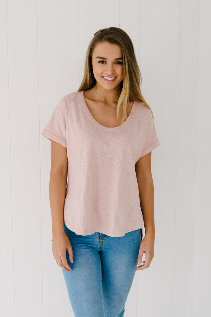 Everyday Tee - Blush|  | Betty Lane Womens Clothing Victoria