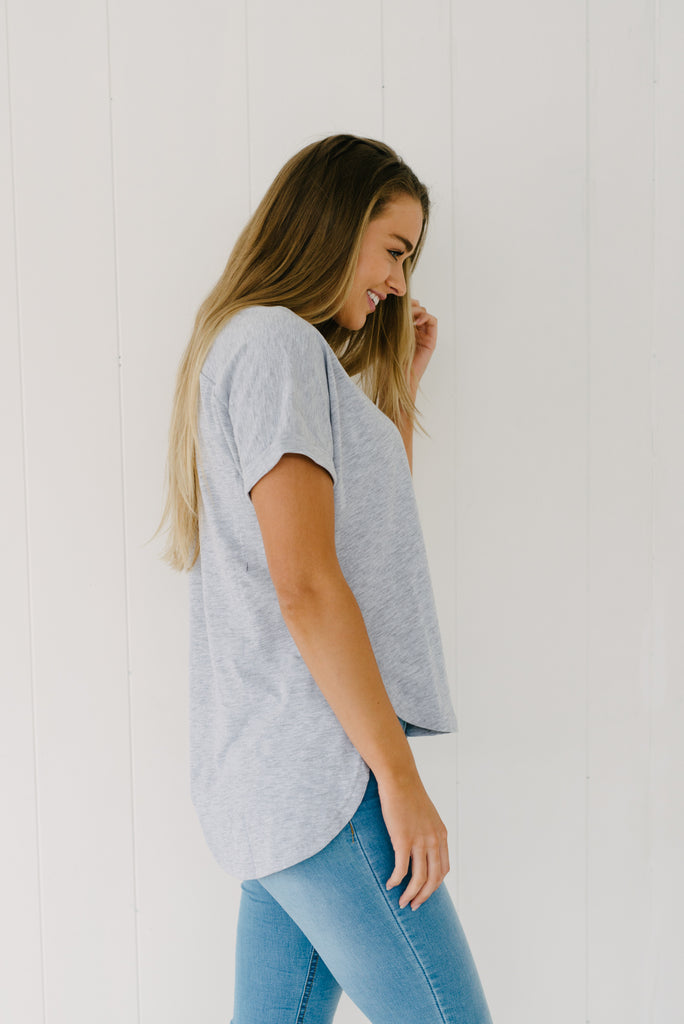 Everyday Tee - Grey|  | Betty Lane Womens Clothing Victoria