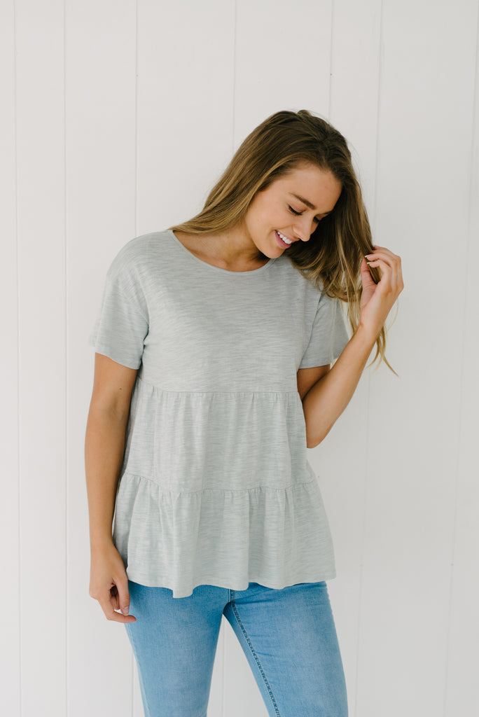 Frill Tee - Mint|  | Betty Lane Womens Clothing Victoria