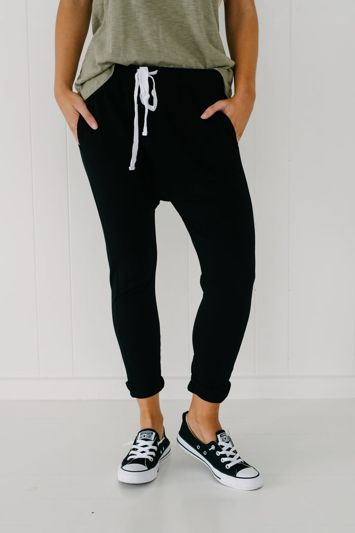Jordan Jogger - Black| Pants | Betty Lane Womens Clothing Victoria