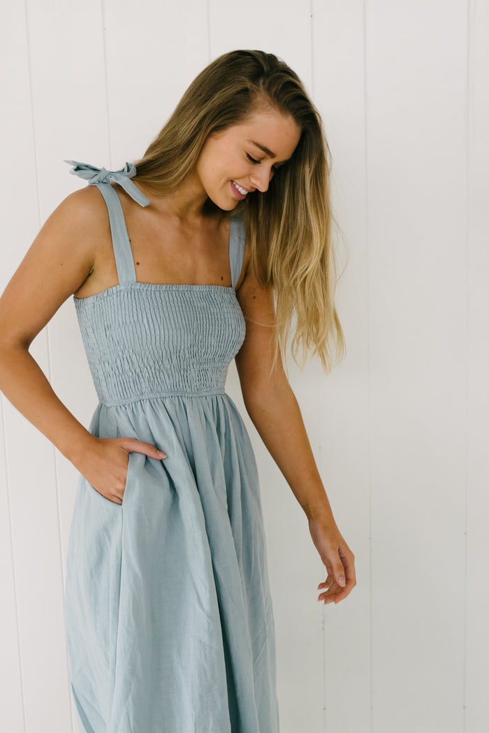 Kimberley Dress - Blue|  | Betty Lane Womens Clothing Victoria