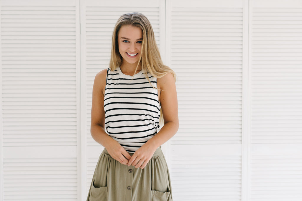 Classic Stripe Tank|  | Betty Lane Womens Clothing Victoria