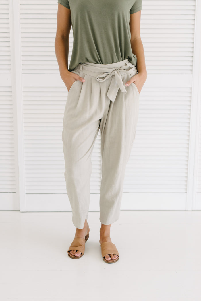 Nora Tie Up Pants| Pants | Betty Lane Womens Clothing Victoria