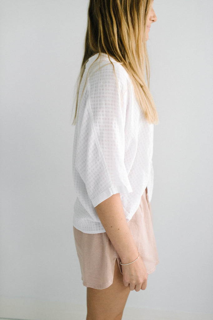 Tallow Tie Front Top - White| summer | Betty Lane Womens Clothing Victoria