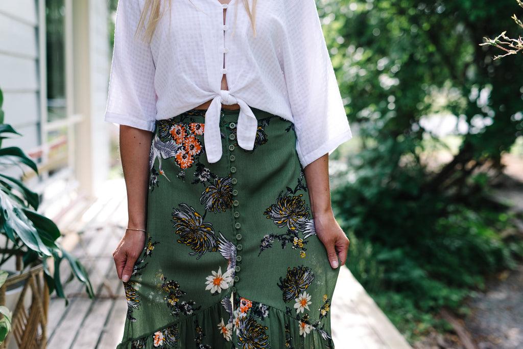 Emerald Garden Skirt|  | Betty Lane Womens Clothing Victoria