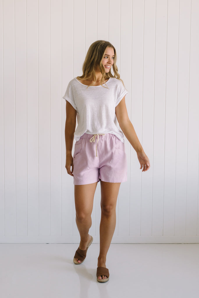 Little Lies Label Lockie Tee | Luxe Linen Shorts