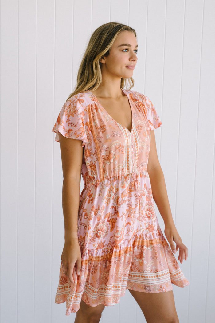 Peach Bliss Mini Dress