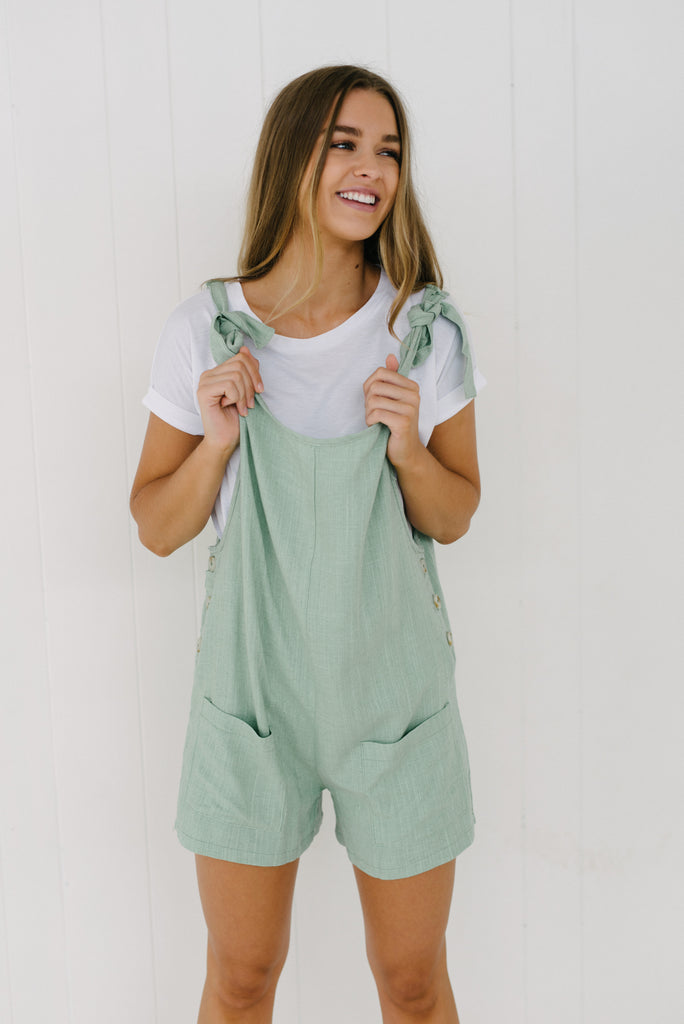 Libby Overalls - Mint