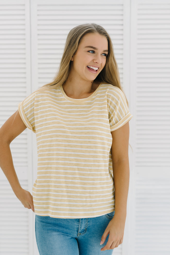 Oscar Tee - Sunshine|  | Betty Lane Womens Clothing Victoria