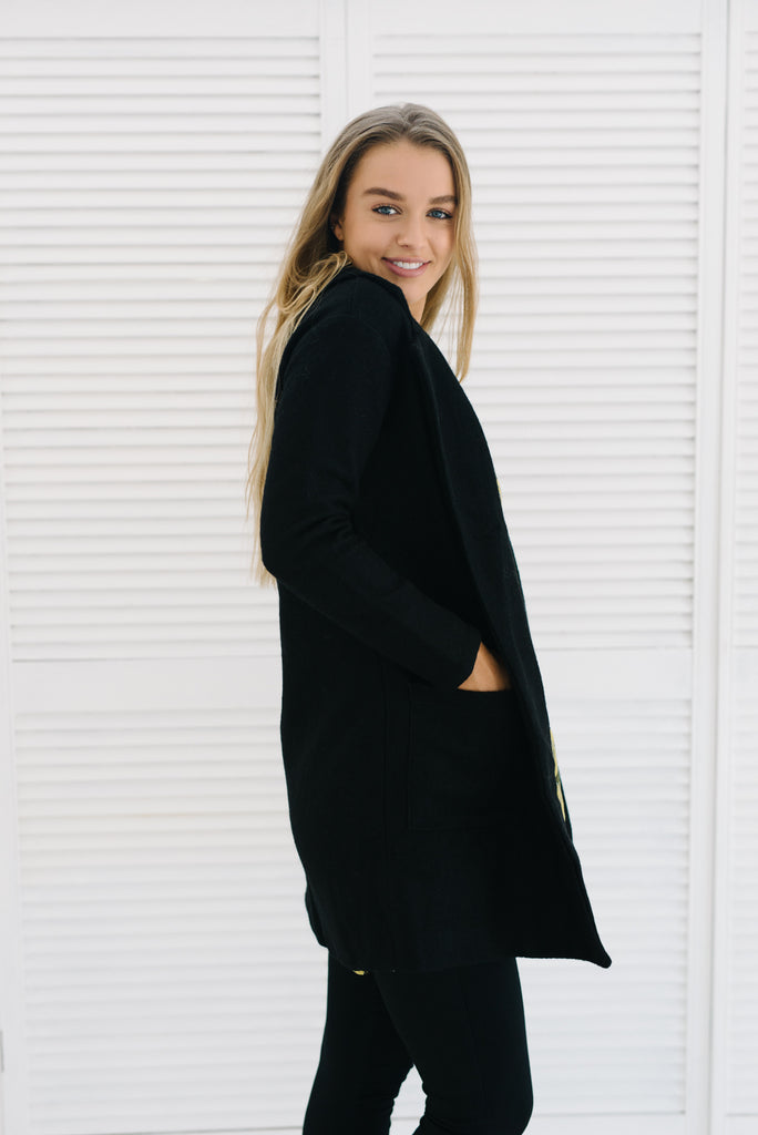 Cleo Coat | Black|  | Betty Lane Womens Clothing Victoria