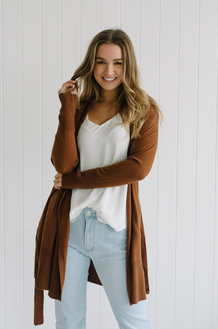 May Cardigan - Chocolate