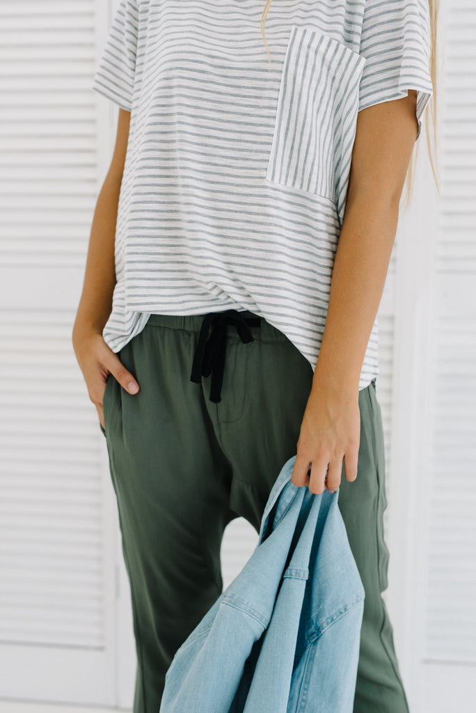 Axel Pants | Khaki Green| Pants | Betty Lane Womens Clothing Victoria
