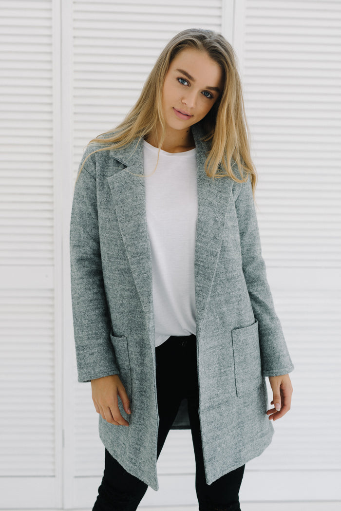 Cleo Coat | Grey|  | Betty Lane Womens Clothing Victoria