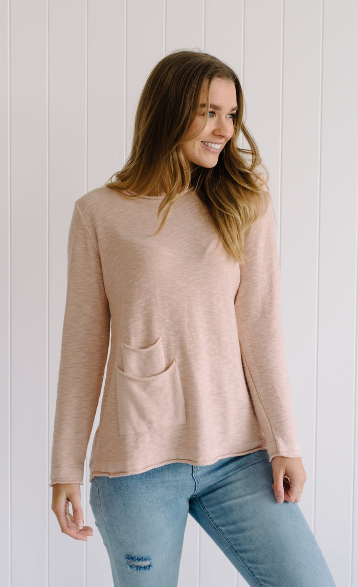 Layla Linen Knit - Blush