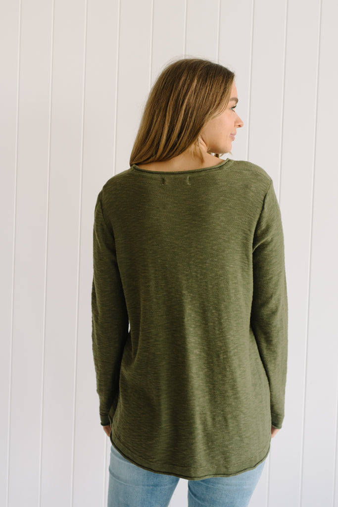 Layla Linen Knit - Forest Green