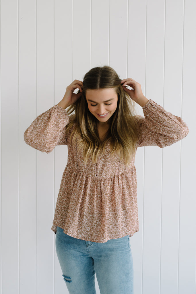 Ditsy Floral Top - Rose