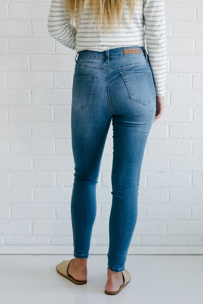 Khloe Jeans - Mid Blue - Betty Lane