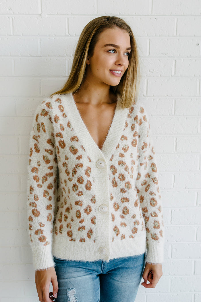 Giselle Leopard Cardigan