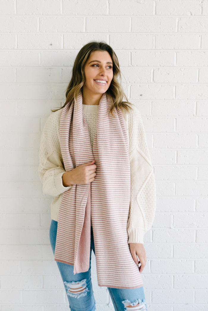 Team Stripes Scarf - Blush