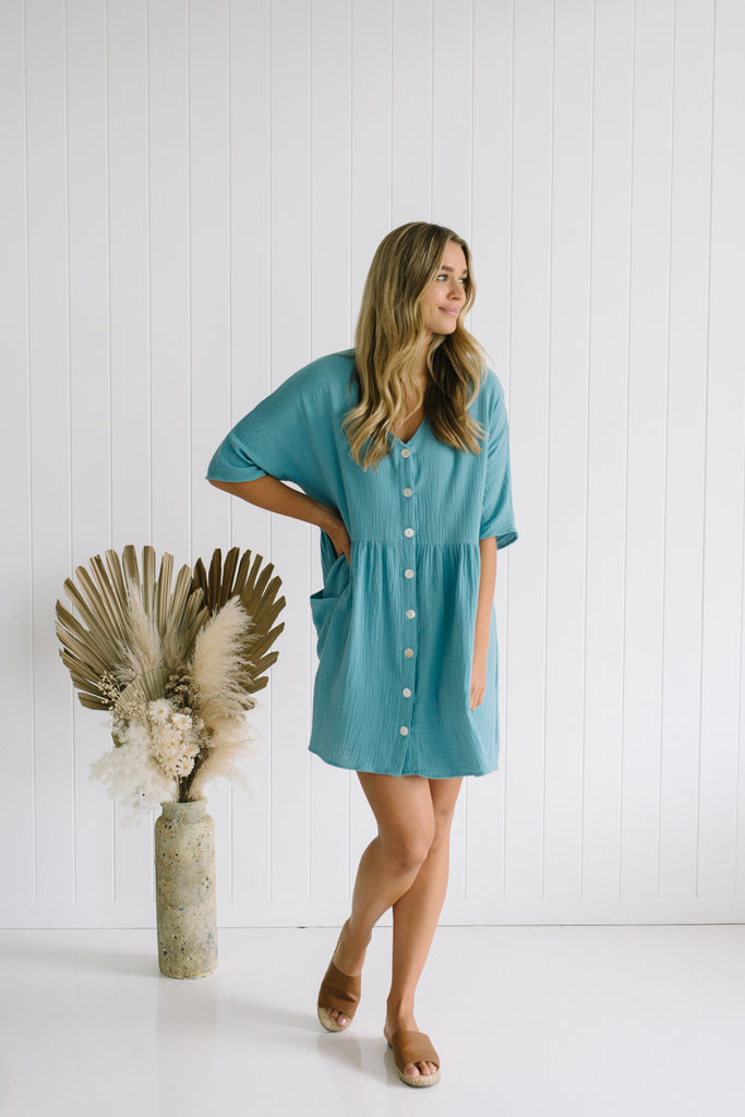 Willa Oversized Dress - Blue