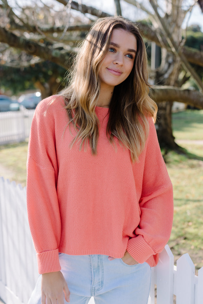 Coral Pink Knit