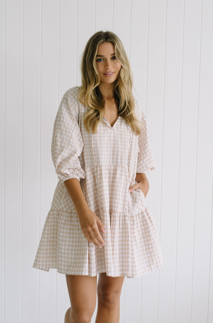 Betty Lane Dresses | Ginger Gingham Smock