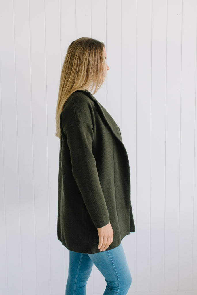Darcy Coatigan - Khaki Green