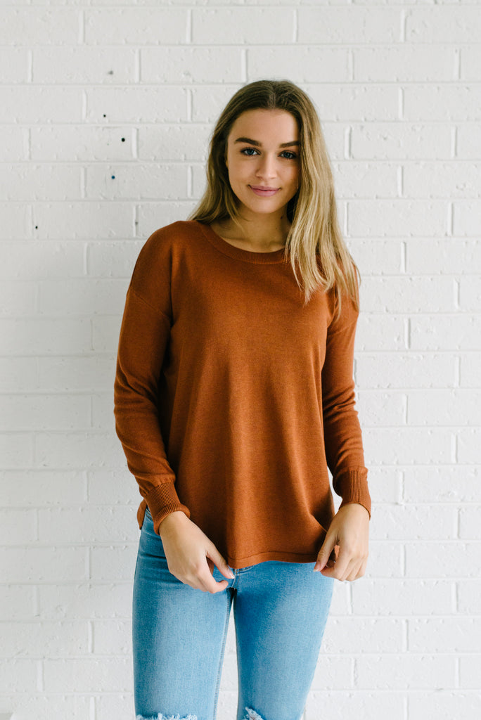 Women's Rust Knit