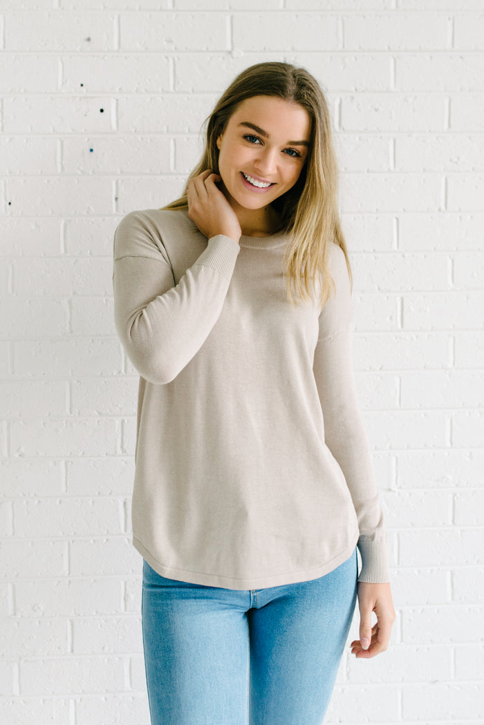 Women's Natural Beige Knit