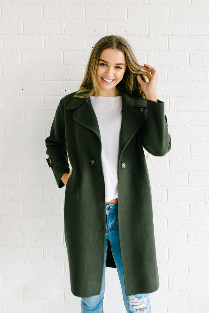London Coatigan - Forest Green