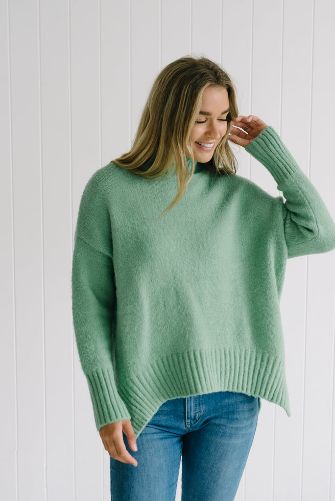 Mint Green Turtle Knitwear