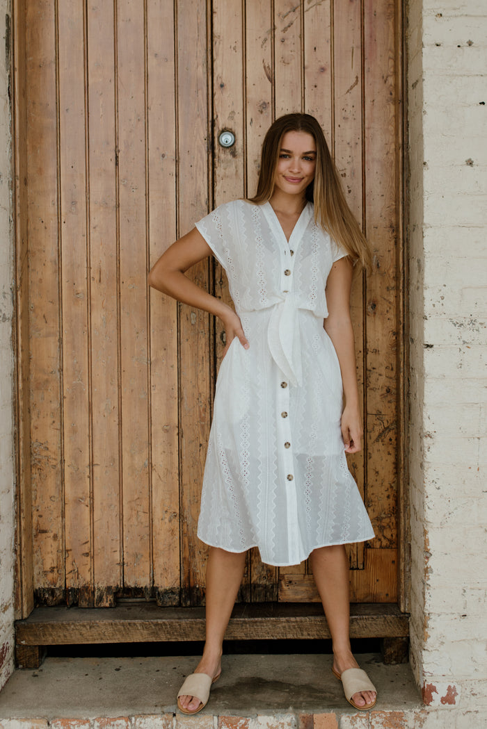 Betty Lane | Flatter Me Dress white crochet