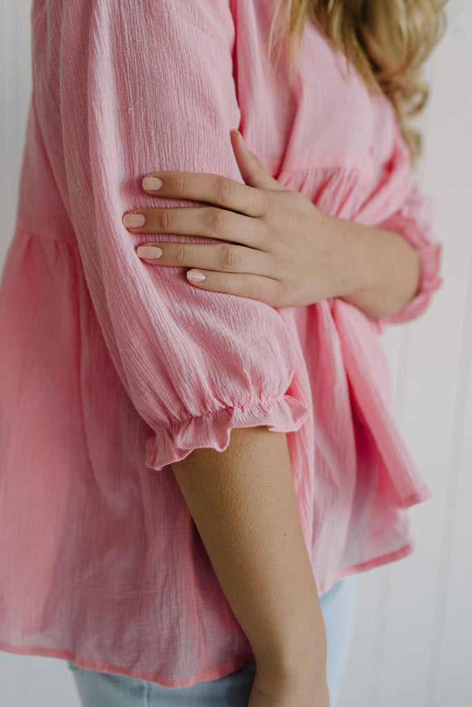 Pink Poppy Blouse